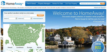 Homeaway Welcome Page