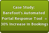 Case Study:  Barefoot's Automated  Portal Response Tool  = 30% Increase in Bookings
